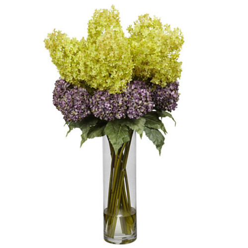 Nearly Natural Giant Mixed Hydrangea Silk Flower Arrangement