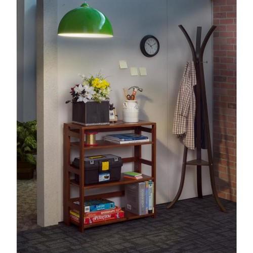 Niche Flip Flop Cherry 3-Shelf 30 in. Wide Folding Bookcase