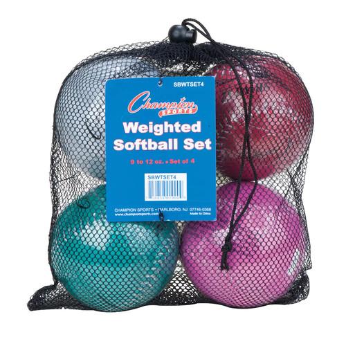 Weighted Training Softball Set w mesh