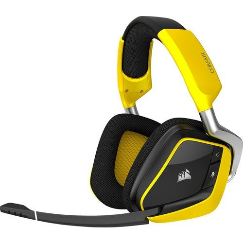 CORSAIR - VOID PRO RGB SE Wireless Dolby 7.1-Channel Surround Sound Gaming Headset for PC - Yellow
