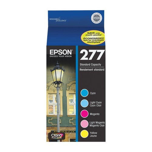Epson Claria T277920 Cyan/Light Cyan/Light Magenta/Magenta/Yellow Ink Cartridges, Pack Of 5