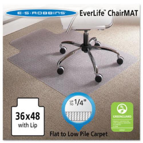 ES Robbins 36 x 48 Lip Chair Mat Task Series AnchorBar for Carpet up to 1/4