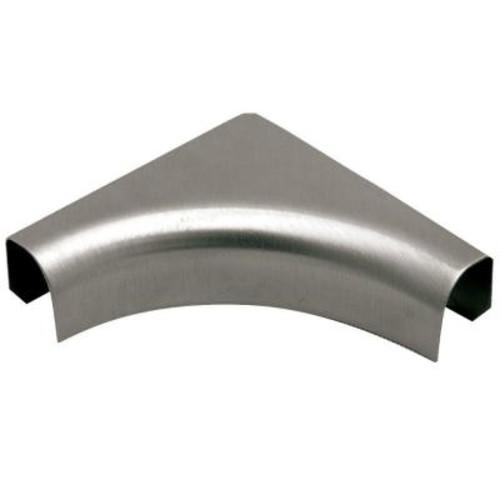 Schluter Rondec Stainless Steel 1/2 in. x 2 in. Metal 1-1/2 in. Radius Sink Corner