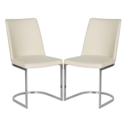 Safavieh Parkston Linen Beige Side Chair (Set of 2)