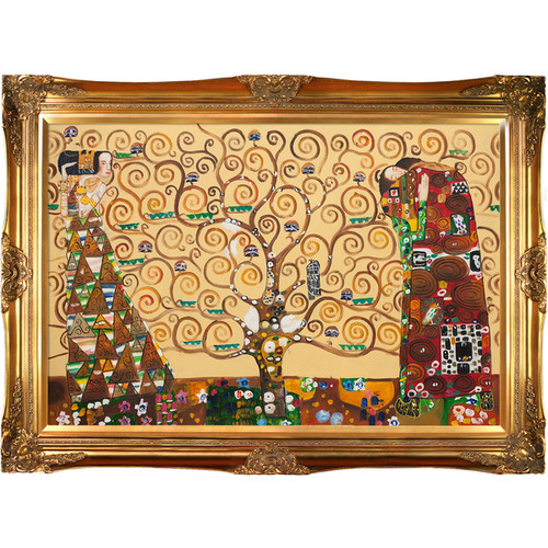 Klimt 'The Tree of Life, Stoclet Frieze' Hand Painted Oil Reproduction