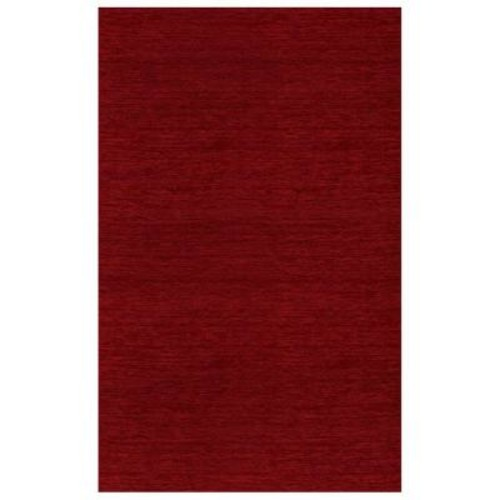 Ruggable Washable Solid Red 5 ft. x 7 ft. Stain Resistant Area Rug