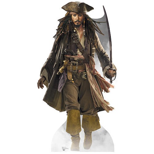 Pirates of the Caribbean Captain Jack Sparrow Stand Up Poster