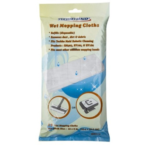 Techko Maid Replacement Wet Cleaning Cloths - 12pk