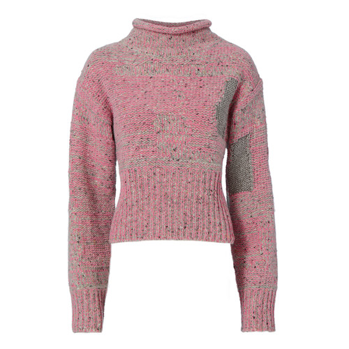 3.1 PHILLIP LIM Plaited Tweed Cropped Pullover Sweater