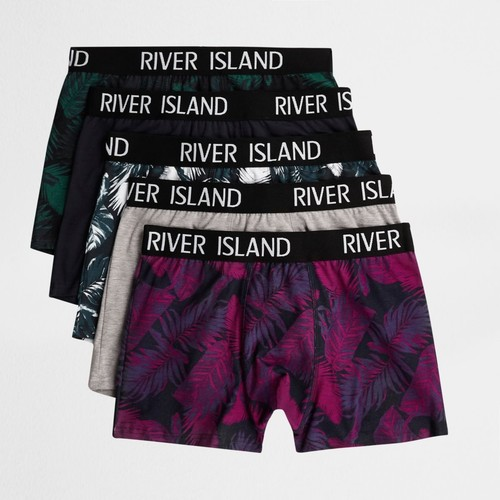 Green palm print trunks multipack