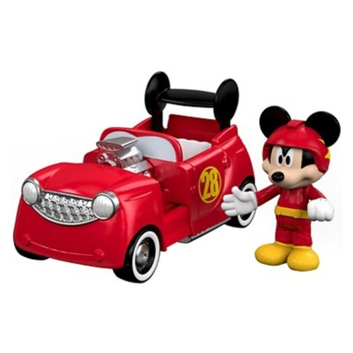 Fisher-Price Disney Mickey and the Roadster Racers 2-In-1 Hot Doggin' Hot Rod Vehicle and Figure