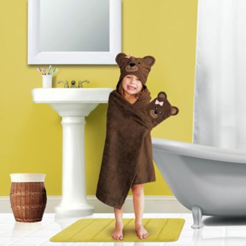 American Dawn Inc. Tub Time Tots 2 Piece Bear Towel Set