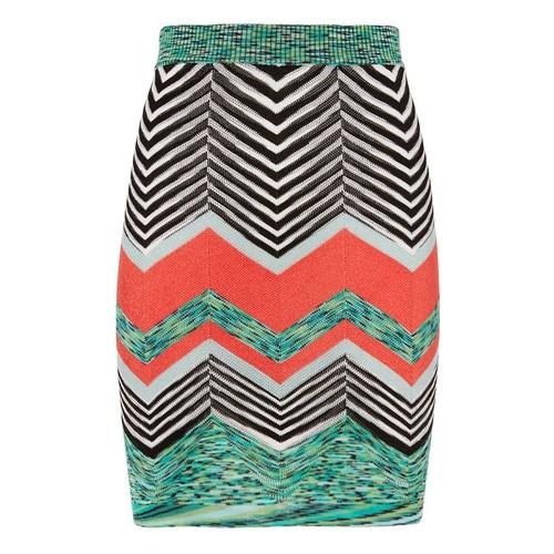 MISSONI Zig Zag Knit Mini Skirt