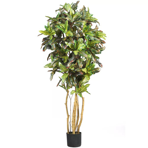 nearly natural 5-ft. Silk Croton Tree