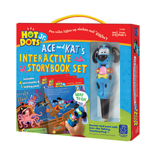 Educational Insights Hot Dots Jr. Interactive Storybooks With Pen, Set Of 4
