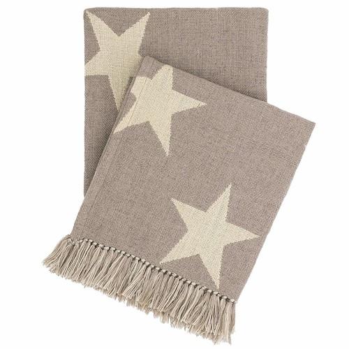 Star Grey\/Ivory Indoor\/Outdoor Throw design by Fresh American - 50\