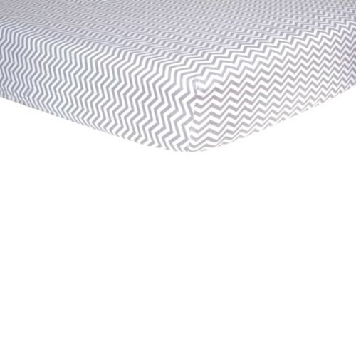 Trend Lab Gray Chevron Flannel Fitted Crib Sheet