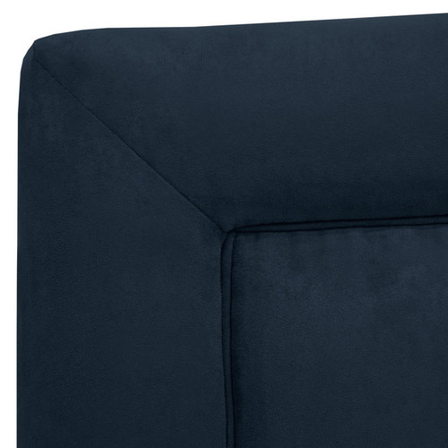 Skyline Furniture Kids Border Bed in Premier Navy [option : Twin, Navy]