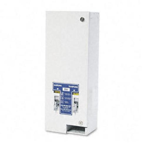 Hospeco Coin Operated Locking Dual Sanitary Napkin/Tampon Dispenser