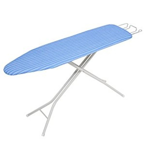 Honey Can Do 4-Leg Ironing Board with Retractable Iron Rest, Blue