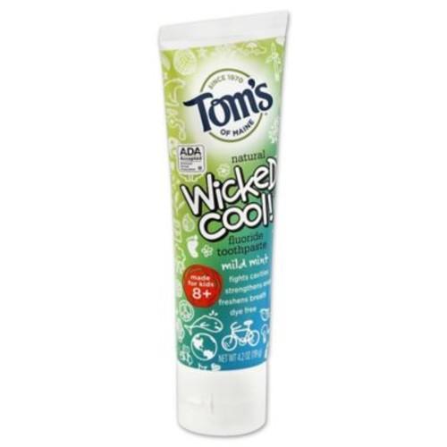 Tom's Of Maine Wicked Cool Anticavity Children's Toothpaste in Mild Mint Flavor