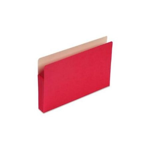 3 1/2 Inch Accordion Expansion Colored File Pocket, Straight Tab, Legal, Red