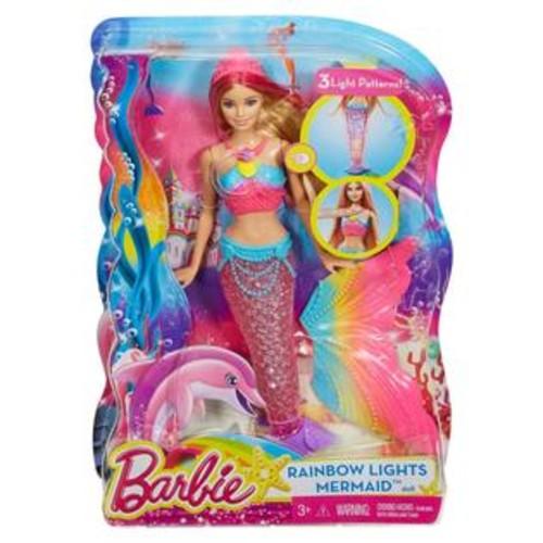Barbie,Mattel Barbie Rainbow Lights Mermaid Doll