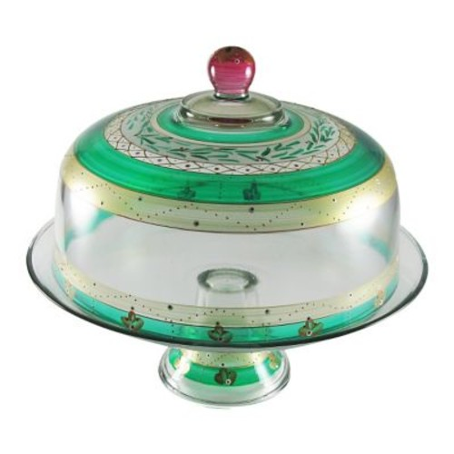 Golden Hill Studio Christmas Garland Cake Stand