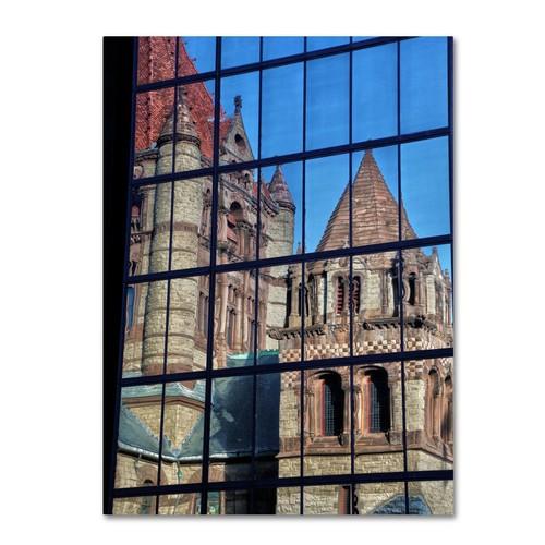 Trademark Fine Art CATeyes 'Trinity Church Reflection' Canvas Art 16x24 Inches