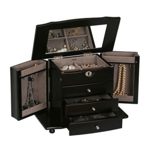 Mele & Co. Bristol Wooden Jewelry Box in Java Finish