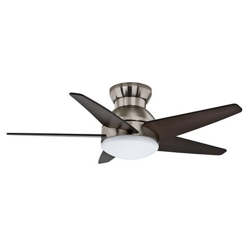 Casablanca 59019 Isotope 44-Inch Ceiling Fan with Five Espresso Blades, Wall Control and Light, Brushed Nickel [Brushed Nickel]