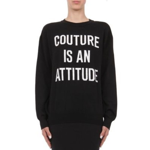 MOSCHINO Capsule Intarsia-Knit Couture Virgin Wool Sweater