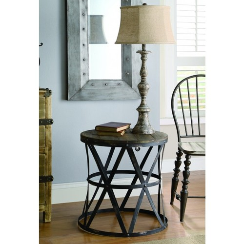 Genevia Side Table, Rustic