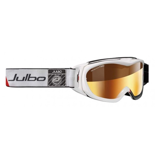 Julbo Revolution OTG Goggles 3660580000000, Color: White, Lens Color: Zebra with Gold Flash Treatment,  Free Two Day Shipping