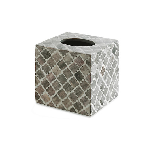 Marrakesh Tissue Box Cover, Gray