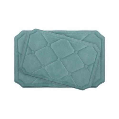 BounceComfort Gertie Marine Blue Memory Foam 2-Piece Bath Mat Set
