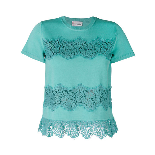 RED VALENTINO Lace Applique T-Shirt