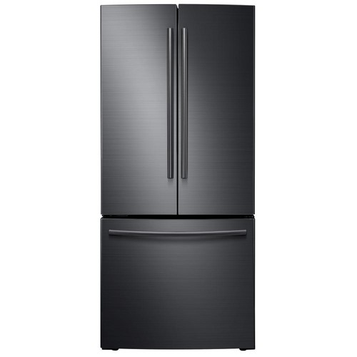 Samsung 30 in. W 21.8 cu. ft. French Door Refrigerator in Black Stainless Steel