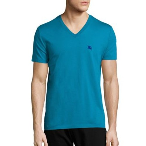 BURBERRY Solid Lindon V-Neck Tee