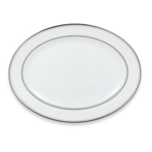 kate spade new york Library Lane Platinum 13-Inch Oval Platter