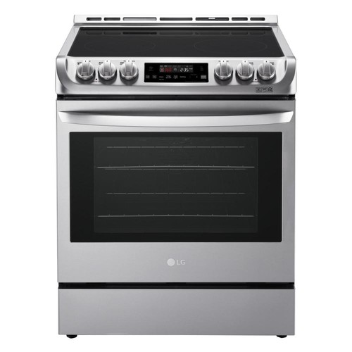 LG Electronics 6.3 cu. ft. Slide-In Electric Range with ProBake Convection Oven and EasyClean in Stainless Steel