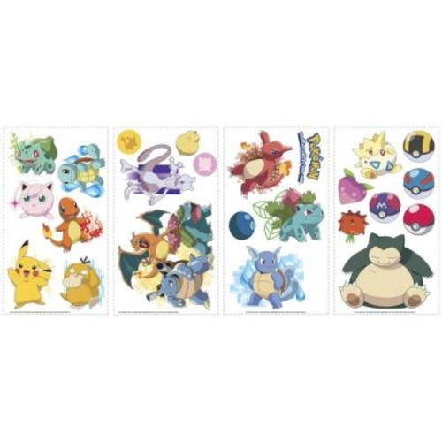 RoomMates 5 in. x 11.5 in. Pokemon Iconic Peel and Stick Wall Decal
