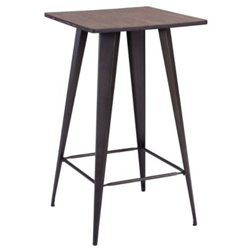 Titus Rustic Wood and Metal Pub Table - Zuo