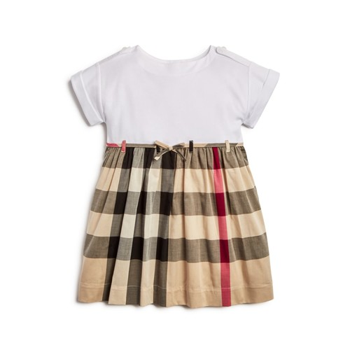 BURBERRY Girls' Rhonda Check Skirt Dress - Little Kid, Big Kid