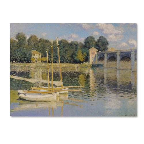Trademark Global Claude Monet 'The Bridge at Argenteuil' Canvas Art [Overall Dimensions : 35x47]