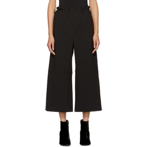 MM6 MAISON MARTIN MARGIELA Black Wide-Leg Drawstring Trousers
