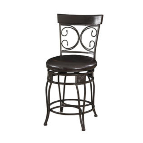 The Powell Company Big and Tall Back to Back Scroll Counter Stool