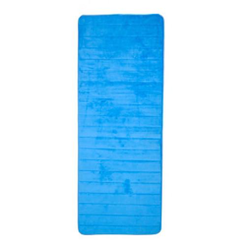 Lavish Home Memory Foam Striped Extra Long Bath Mat