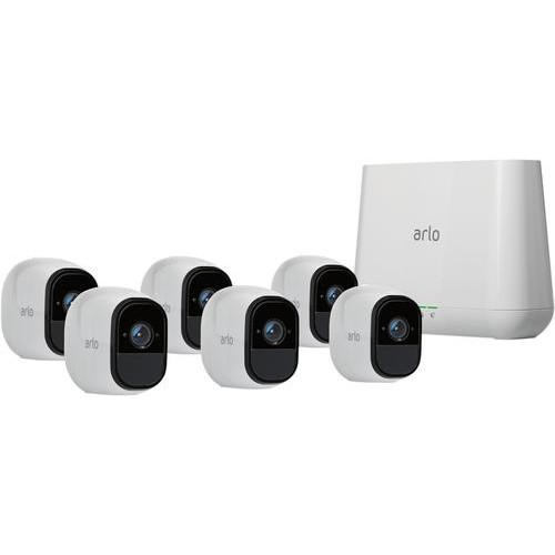 Arlo - Pro Indoor/Outdoor HD Wire-Free Security Camera System (6-Pack) - White