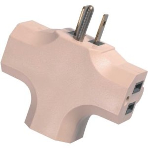 WOODS 0794B AC OUTLET TRIPLE(3) ADAPTER, 3-CONDUCTORS.